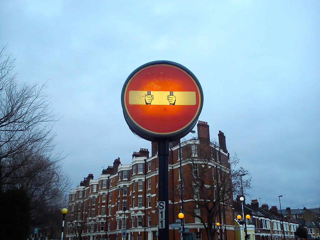 Battersea traffic sign